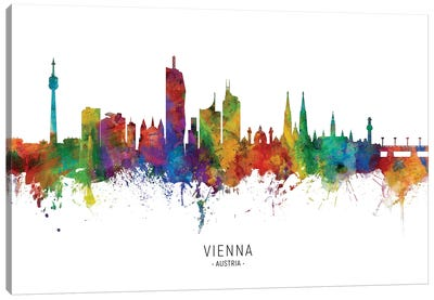 Vienna Austria Skyline Canvas Art Print