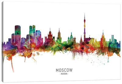 Moscow Russia Skyline Canvas Art Print