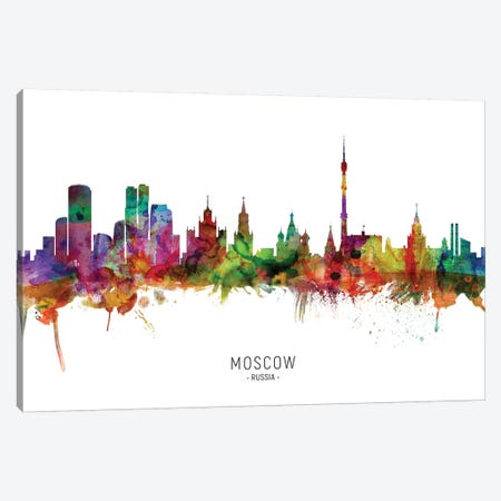 Moscow Russia Skyline Canvas Print #MTO2147} by Michael Tompsett Canvas Artwork
