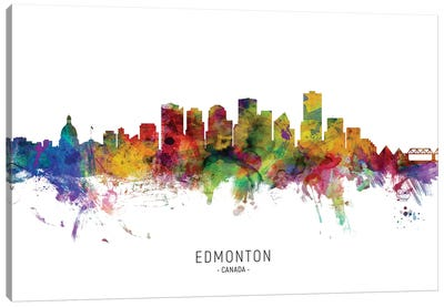 Edmonton Canada Skyline Canvas Art Print