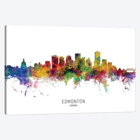 Edmonton Canada Skyline Canvas Print #MTO2148} by Michael Tompsett Canvas Art Print