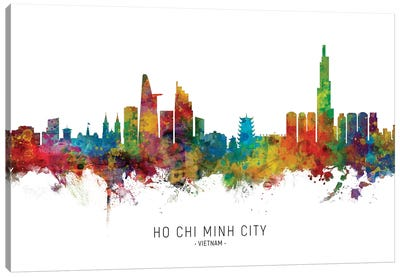 Ho Chi Minh City Vietnam Skyline Name Canvas Art Print