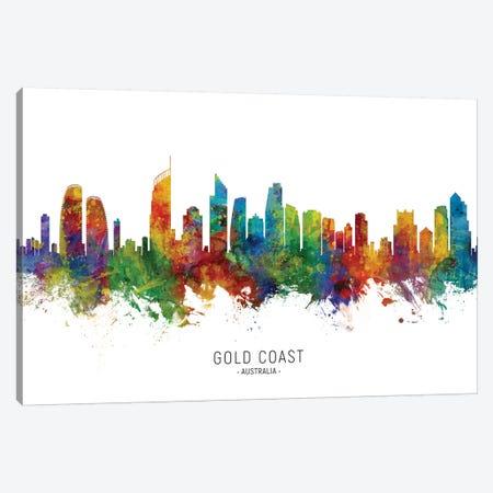 Gold Coast Australia Skyline Canvas Print #MTO2153} by Michael Tompsett Canvas Art