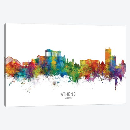 Athens Greece Skyline Canvas Print #MTO2154} by Michael Tompsett Canvas Print
