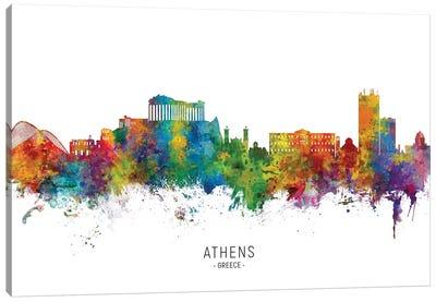 Athens Greece Skyline Canvas Art Print