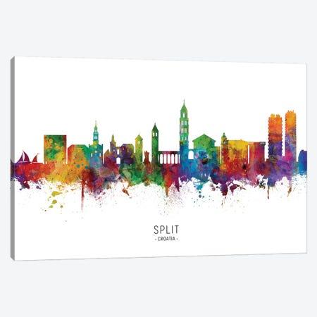 Split Croatia Skyline Canvas Print #MTO2157} by Michael Tompsett Canvas Art Print