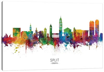 Split Croatia Skyline Canvas Art Print
