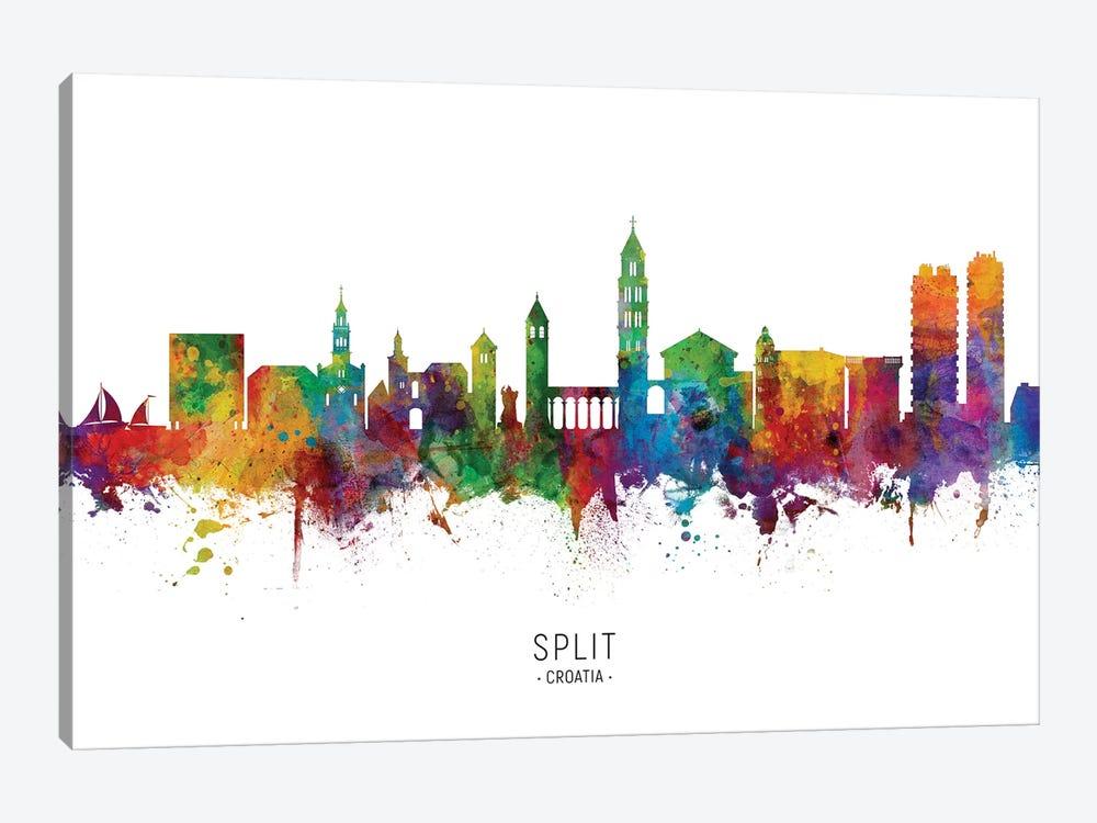 Split Croatia Skyline by Michael Tompsett 1-piece Canvas Wall Art