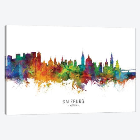 Salzburg Austria Skyline Canvas Print #MTO2160} by Michael Tompsett Canvas Print