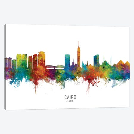 Cairo Egypt Skyline 3-Piece Canvas #MTO2161} by Michael Tompsett Canvas Art Print