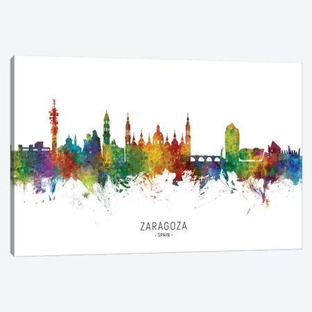 Zaragoza Spain Skyline Canvas Print #MTO2164} by Michael Tompsett Canvas Artwork
