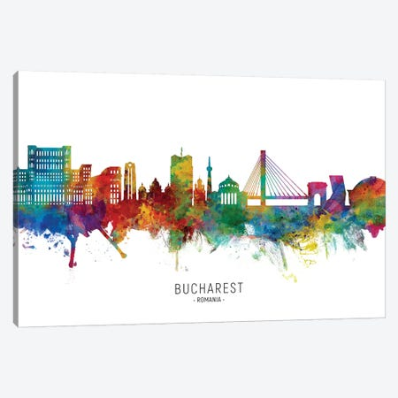 Bucharest Romania Skyline Canvas Print #MTO2165} by Michael Tompsett Canvas Wall Art
