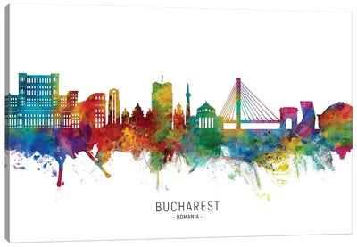 Bucharest Romania Skyline Canvas Art Print