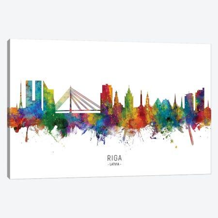 Riga Latvia Skyline Canvas Print #MTO2166} by Michael Tompsett Canvas Wall Art