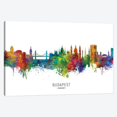 Budapest Hungary Skyline Canvas Print #MTO2169} by Michael Tompsett Canvas Art Print