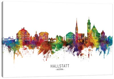 Hallstatt Austria Skyline Canvas Art Print
