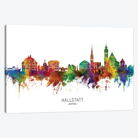 Hallstatt Austria Skyline 3-Piece Canvas #MTO2171} by Michael Tompsett Canvas Art