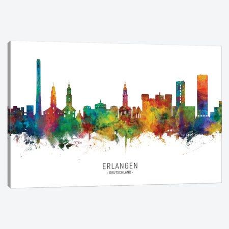 Erlangen Deutschland Skyline Canvas Print #MTO2174} by Michael Tompsett Art Print