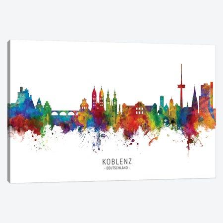 Koblenz Deutschland Skyline Canvas Print #MTO2175} by Michael Tompsett Canvas Print