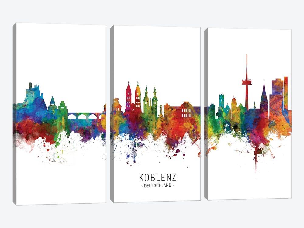 Koblenz Deutschland Skyline by Michael Tompsett 3-piece Canvas Artwork