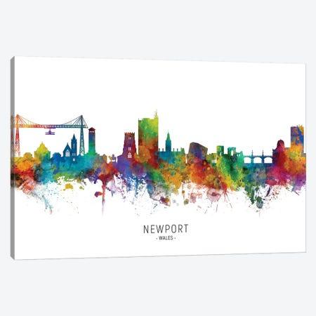 Newport Wales Skyline Canvas Print #MTO2176} by Michael Tompsett Art Print