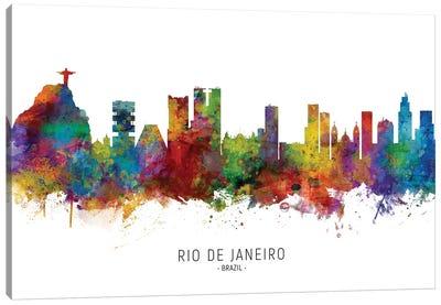 Rio De Janeiro Brazil Skyline Canvas Art Print