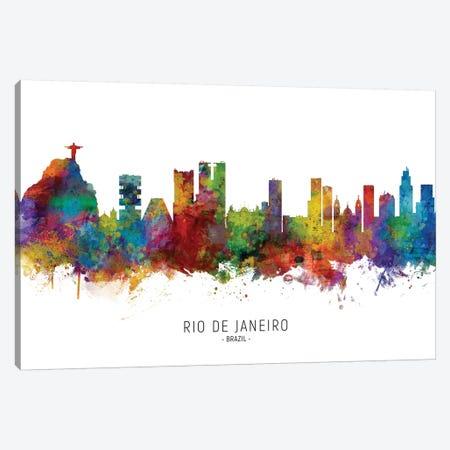 Rio De Janeiro Brazil Skyline Canvas Print #MTO2178} by Michael Tompsett Canvas Art