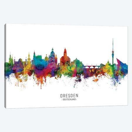 Dresden Deutschland Skyline Canvas Print #MTO2179} by Michael Tompsett Canvas Art
