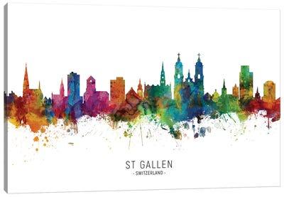 St Gallen Switzerland Skyline Canvas Art Print
