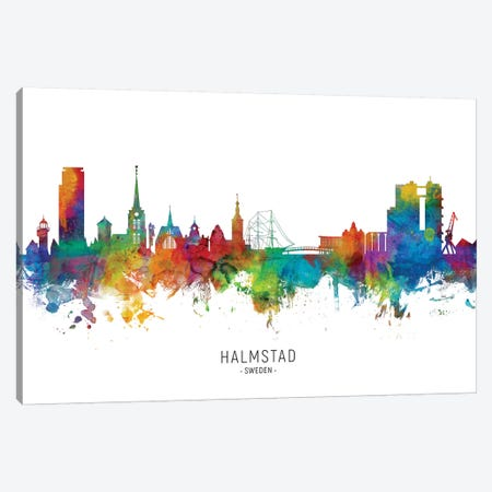 Halmstad Sweden Skyline Canvas Print #MTO2188} by Michael Tompsett Art Print