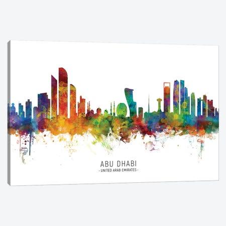 Abu Dhabi Skyline Canvas Print #MTO2189} by Michael Tompsett Canvas Print