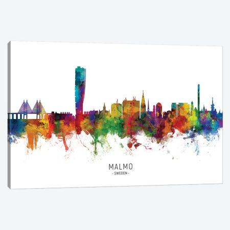 Malmo Sweden Skyline Canvas Print #MTO2190} by Michael Tompsett Canvas Artwork