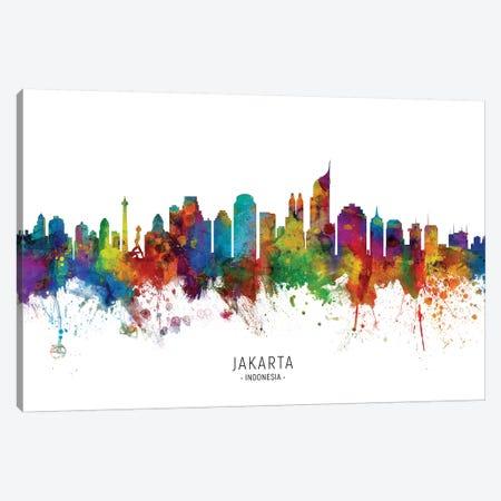 Jakarta Indonesia Skyline Canvas Print #MTO2191} by Michael Tompsett Canvas Art