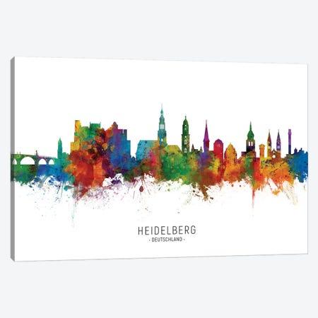 Heidelberg Deutschland Skyline Canvas Print #MTO2193} by Michael Tompsett Canvas Art