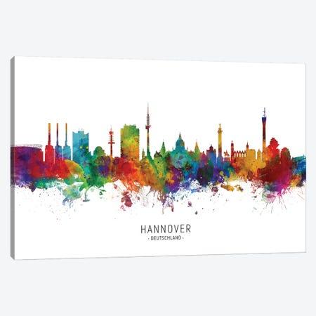 Hannover Deutschland Skyline Canvas Print #MTO2195} by Michael Tompsett Canvas Art Print
