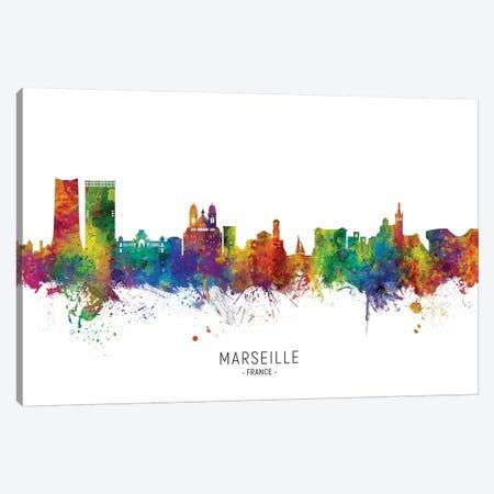 Marseille France Skyline Canvas Print #MTO2197} by Michael Tompsett Art Print