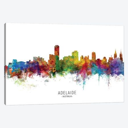 Adelaide Australia Skyline Canvas Print #MTO2198} by Michael Tompsett Canvas Art