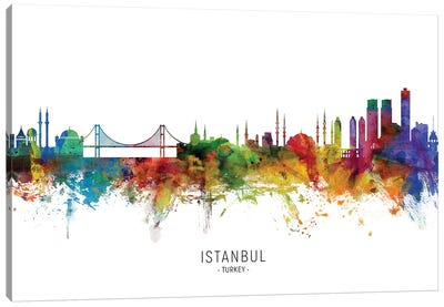 Istanbul Turkey Skyline Canvas Art Print