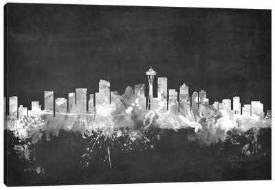Blackboard Skyline Series: Seattle, Washington, USA Canvas Print #MTO21