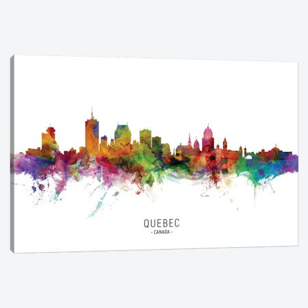 Quebec Canada Skyline Canvas Print #MTO2202} by Michael Tompsett Canvas Artwork