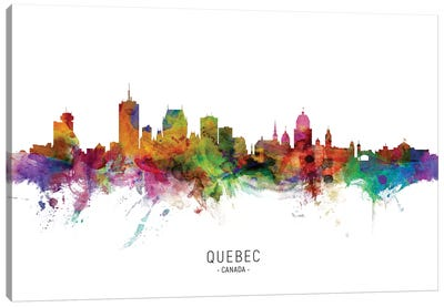 Quebec Canada Skyline Canvas Art Print