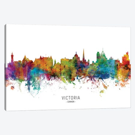 Victoria Canada Skyline Canvas Print #MTO2203} by Michael Tompsett Canvas Wall Art