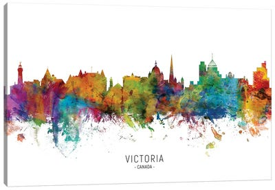 Victoria Canada Skyline Canvas Art Print