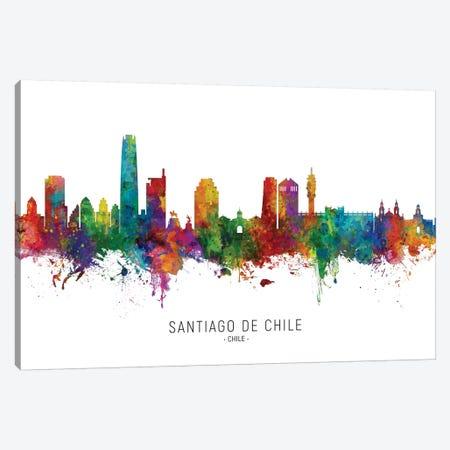 Santiago De Chile Skyline Canvas Print #MTO2208} by Michael Tompsett Canvas Artwork