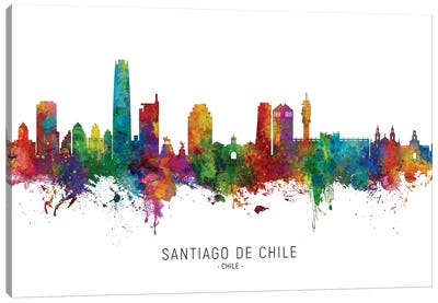 Santiago De Chile Skyline Canvas Art Print
