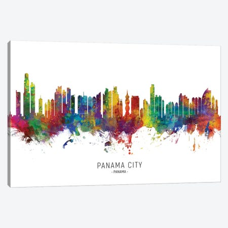 Panama City Skyline Canvas Print #MTO2209} by Michael Tompsett Canvas Art