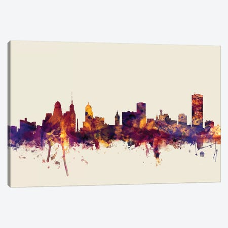 Buffalo, New York, USA On Beige Canvas Print #MTO220} by Michael Tompsett Art Print