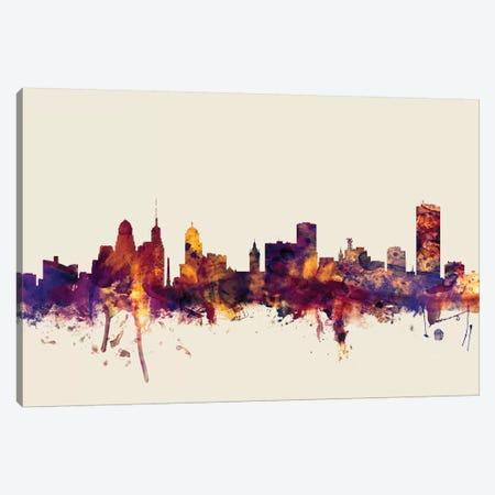 Buffalo, New York, USA On Beige Canvas Print #MTO220} by Michael Tompsett Art Print