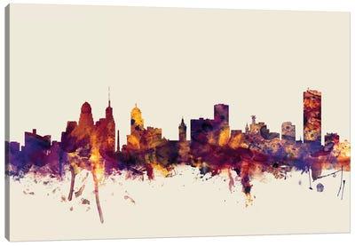 Buffalo, New York, USA On Beige Canvas Art Print