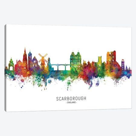 Scarborough England Skyline Canvas Print #MTO2210} by Michael Tompsett Art Print